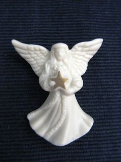 Angel Gold Star Pin Brooch Christmas Jewelry STOCKING STUFFER GIFT