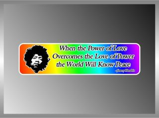JIMMY HENDRIX RAINBOW PEACE QUOTE COEXIST VINYL DECAL BUMPER STICKER 2