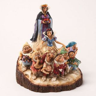 JIM SHORE DISNEY TRADITIONS WOOD CARVED SNOW WHITE SEVEN DWARFS