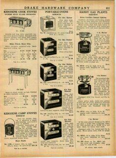 1943 AD Kerosene Cook Stove Anchor Blue Kerogas Portable Ovens Coleman