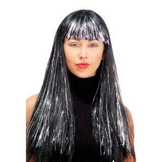 MR179017 Wig 24 Inch Shimmering Black Rock Star Look Synthetic Fibers