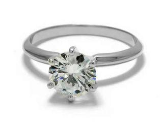 Moissanite Engagement Ring 1/2 Ct. Set In 14 kt. White Gold