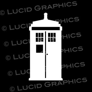 Police Call Box Vinyl Decal Sticker   Phone Booth Dr. Who Inspired