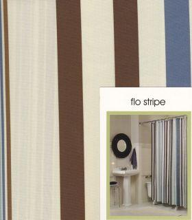 Maytex Horizontal Stripe Fabric Shower Curtain