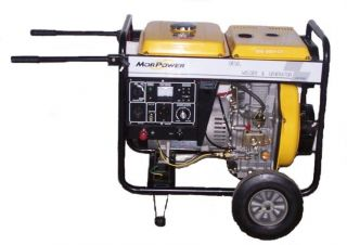 Diesel Powered Electric Start Portable Welder and Generator 160 Amps