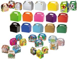 Kids Meal Box Bag   Wedding Favour Party Activity Food   Party Boxes
