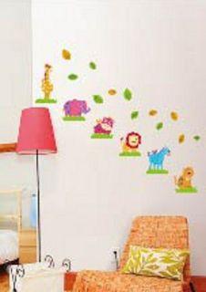 Jungle Safari Animals Wall Decor Vinyl Decal Sticker Removable Nursery