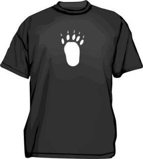 Large BEAR TRACK Paw Print Mens Tee Shirt PICK Size