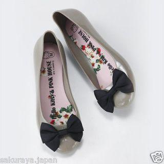 Hello Kitty x PINK HOUSE Rain Pumps Shoes Umbrella Japan Christmas