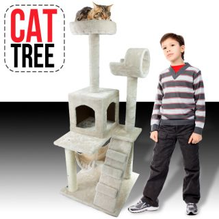 Cat Tower Tree w Condo Scratcher Furniture Kitten House Hammock New