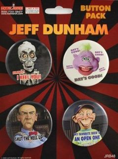 JEFF DUNHAM ACHMED WALTER PEANUT BUBBA BUTTON PACK NEW