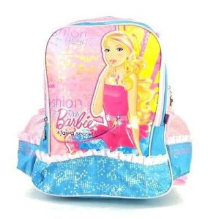 Disney barbie school girls kids backpack bag bookbag blue