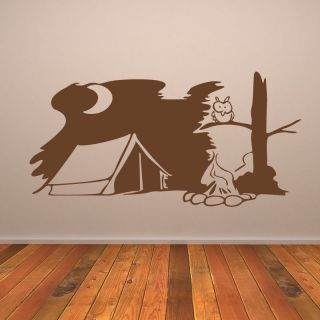 Camping Scene Outdoors Wall Art Sticker Wall Decals Transfers