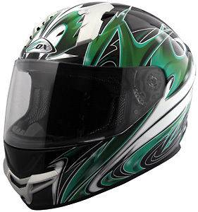Green/Black Graphic Full Face Helmet X Small   XX Large $0 Shipping