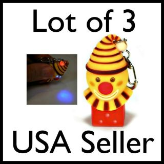 LED CRAZY CLOWN KEY CHAIN Light Sound Noise Toy Ring NEW Evil Laughing