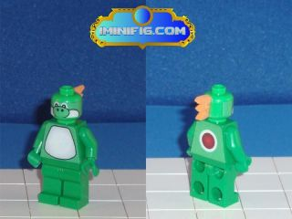 Custom LEGO Super Mario game figure Yoshi