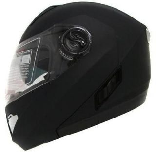 MOTORCYCLE SPORT BIKE DUAL SHIELD SUN VISOR HELMET BLACK DOT~XXL