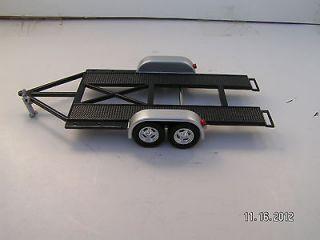43 Black Modified Dirt Late Model Race Car Open Car Trailer GMP