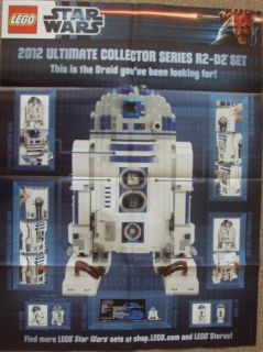Lego Star Wars Limited Edition R2 D2 Poster Only 20398 Worldwide