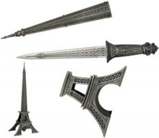 Eiffel Tower Dagger Knife Letter Opener Statue LG NEW
