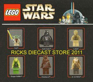 Lego Star Wars Vader Yoda C3PO Binks Chewbacca Poster
