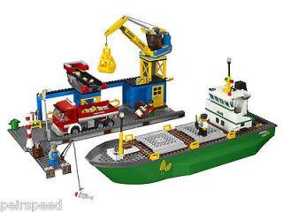 NEW LEGO CITY HARBOUR (4645) SET, FLOATING SHIP, CRANE