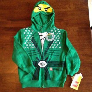 NWT LEGO NINJAGO LLOYD Boys Hoodie Sweatshirt size 4 Costume Green