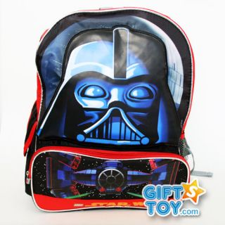 New Lego Star Wars Darth Vader Boys 16 Large School Backpack