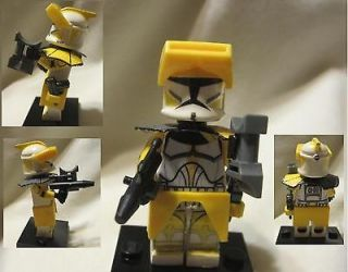 LEGO Custom Star Wars Commander Bly Custom Pauldron, Yellow Binocular