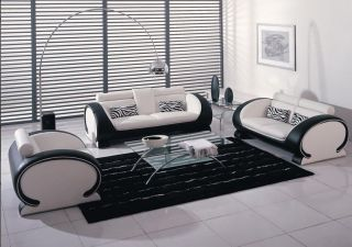 black leather sofa in Sofas, Loveseats & Chaises