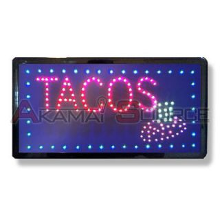 LED Open Tacos Sign Taco Stand Burrito Masa Resturant Food Truck Signs