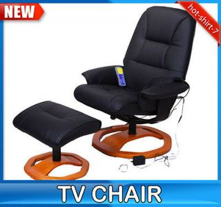 Office TV Recliner Massage Chair Professional Leather With Round Leg