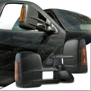 FORD F150 POWER TOW TOWING MIRRORS+LED SIGNAL LIGHT 98 99 00 01 02 NEW