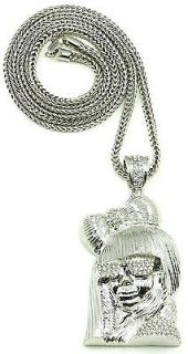 Iced Out New Lady Gaga Pendant Chain Piece With 36 Inch Necklace