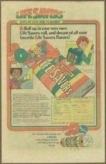 Life Savers candy 1981 print ad / comic advertisement, LifeSavers
