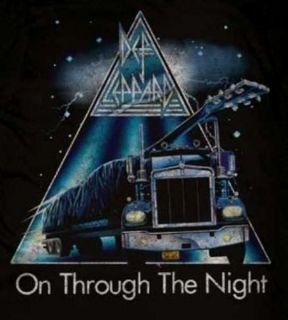 DEF LEPPARD ON THROUGH THE NIGHT UK hard rock T Shirt M XL NWT