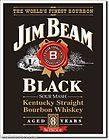 JIM BEAM WHISKEY Drink Alcohol Black Label Bottle Bar Garage Room