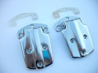 VTG 30s 40s 50s Antique Old ICE BOX DOOR HINGES Chrome Icebox Fridge