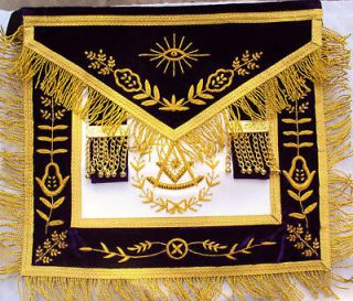 HAND EMBROIDED MASONIC GRAND LODGE PM APRON DAX 08