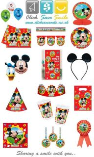 Mickey Mouse Clubhouse Child Party Items   Tablecover   Napkins