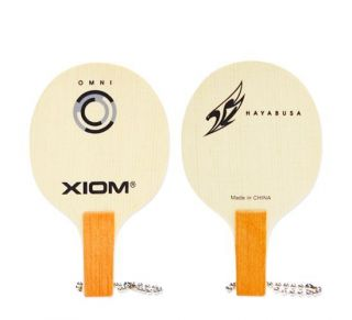 SHIP) NEW XIOM LOGO MINI BLADE KEY RING Raket Table Tennis Ping Pong