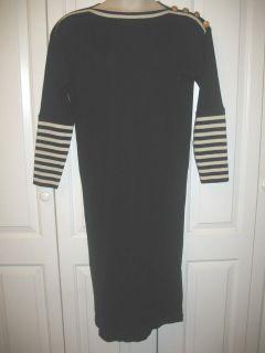 Liz Claiborne black & white wool blend knit dress M (10   12) EUC