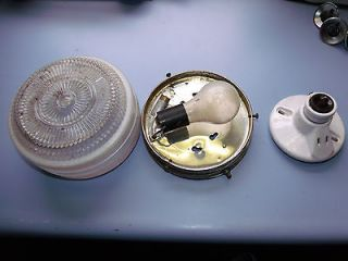 Vintage Coach Monitor Camper Trailer Interior Ceiling Lights