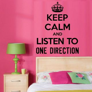 AND LISTEN TO ONE DIRECTION 1D VINYL WALL ART ROOM STICKER MUSIC DECAL