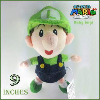 Nintendo Super Mario Bros Baby Luigi Plush Toy Soft Doll Stuffed