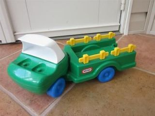 VINTAGE Little Tikes GREEN TRUCK TRACTOR USA TOY