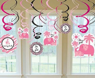 pink zebra baby shower decorations