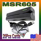 MSR605 USB HiCo Magnetic Credit Card Reader Writer Encoder Swipe