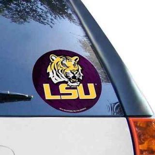 LSU Tigers Round Decal Sticker NEW Window or Car NCAA