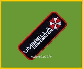 Resident Evil Umbrella Corporation Badge Iron On Patches embroidery